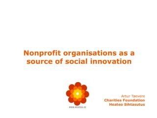 Nonprofit organisations as a source of social innovation