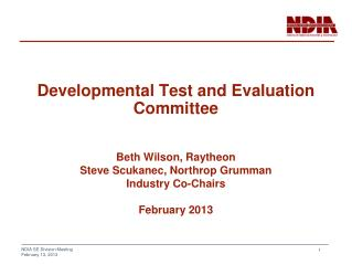 Developmental Test and Evaluation Committee