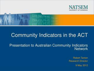 Community Indicators in the ACT