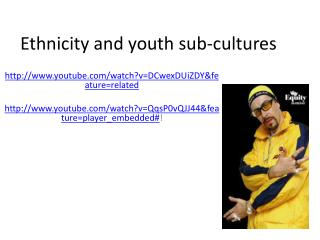 Ethnicity and youth sub-cultures