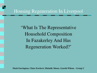 Housing Regeneration In Liverpool