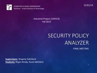 Security policy analyzer