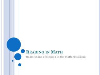 Reading in Math
