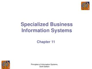 Specialized Business Information Systems