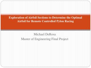 Michael DeRosa Master of Engineering Final Project
