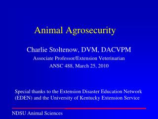 Animal Agrosecurity