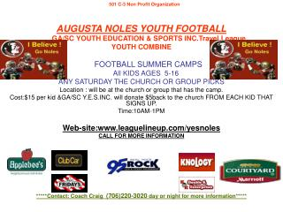 AUGUSTA NOLES YOUTH FOOTBALL