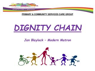 PRIMARY & COMMUNITY SERVICES CARE GROUP DIGNITY CHAIN Jan Blaylock – Modern Matron