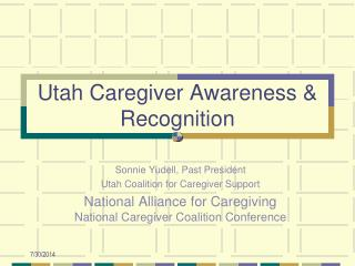 Utah Caregiver Awareness & Recognition