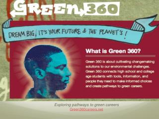Exploring pathways to green careers Green360careers
