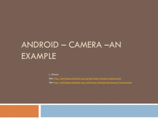 Android – Camera –an Example