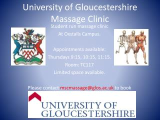 University of Gloucestershire Massage Clinic