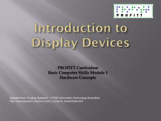 Introduction to Display Devices