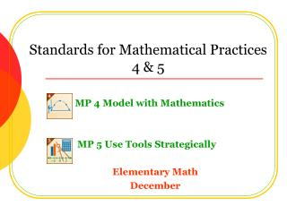 Standards for Mathematical Practices 4 & 5