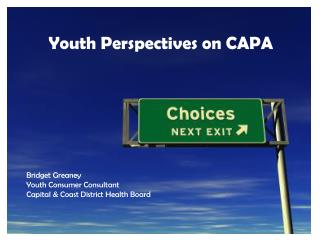Youth Perspectives on CAPA