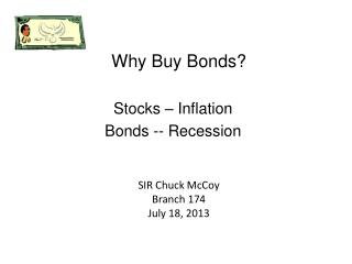 Why Buy Bonds?