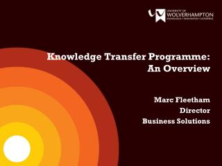 Knowledge Transfer Programme:      An Overview