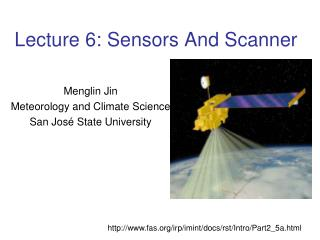 Lecture 6: Sensors And Scanner