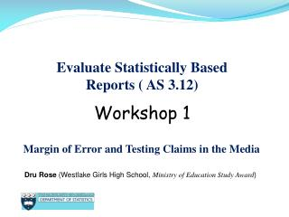 Evaluate Statistically Based Reports (  AS  3.12)