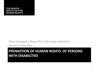 Promotion of Human  rights   of Persons with  disabilities