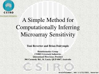 A Simple Method for Computationally Inferring Microarray Sensitivity