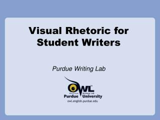 Visual Rhetoric for Student Writers