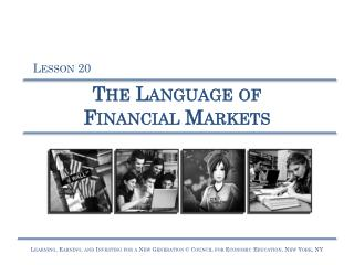 The Language of Financial Markets