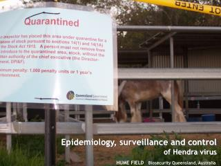 HUME FIELD    Biosecurity Queensland, Australia