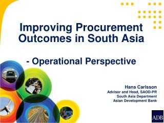 Improving Procurement Outcomes in South Asia  - Operational Perspective