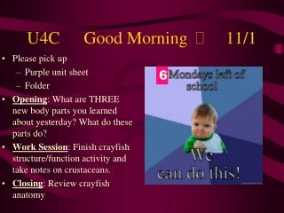 U4CGood Morning 11/1