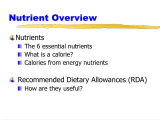 Nutrient Overview