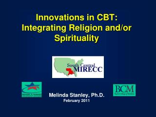 Innovations in CBT: Integrating Religion and/or Spirituality