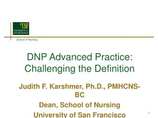 DNP Advanced Practice: Challenging the Definition