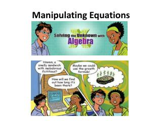 Manipulating Equations