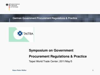 German Government Procurement Regulations & Practice