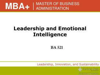 Leadership and Emotional Intelligence