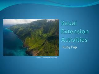 Kauai Extension Activities