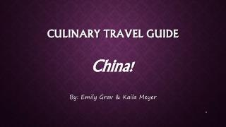 Culinary travel guide