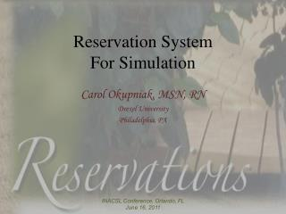 Reservation System  For Simulation