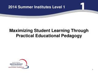 2014 Summer Institutes Level 1
