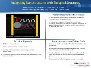 Integrating Nanostructures with Biological Structures