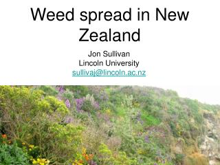 Weed spread in New Zealand