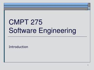CMPT 275 Software Engineering