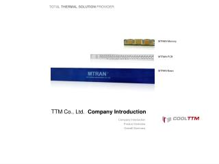 TTM Co., Ltd.   Company Introduction