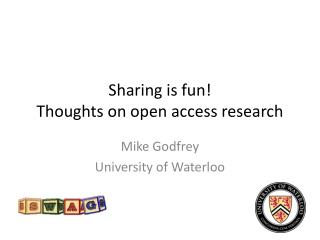 Sharing is fun! Thoughts on open access research