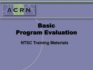 Basic  Program Evaluation