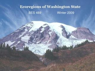 Ecoregions of Washington State