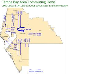 Tampa Bay Area Commuting Flows 2000 Census CTPP  Data and 2006-08 American Community Survey