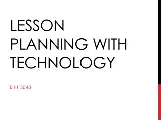 Lesson planning with technology