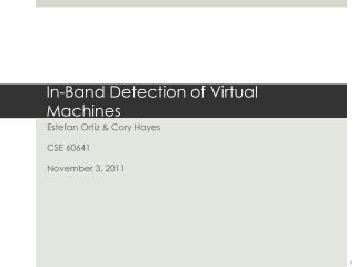 In-Band Detection of Virtual Machines